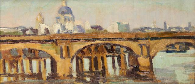Duncan Grant (British, 1885-1978) St. Pauls 25.5 x 46 cm. (10 x 18 in.)