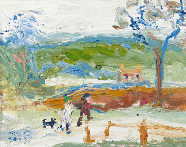 Fred Yates (British, 1922-2008) Walking the Dog