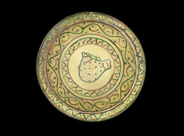 A large scraffiato bowl, Mamluk with test