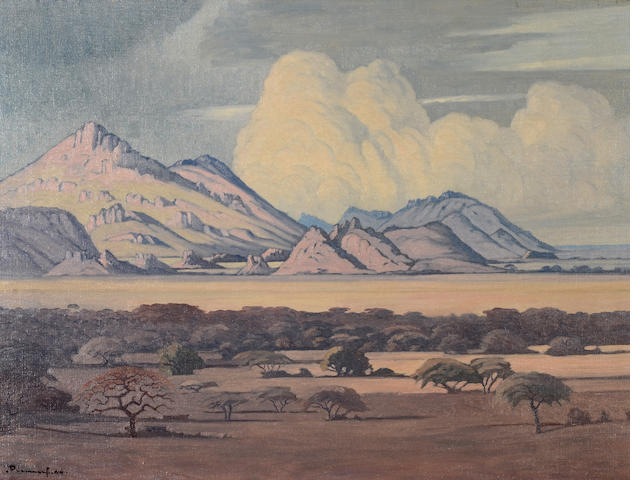 Jacob Hendrik Pierneef (South African, 1886-1957) South West African mountains