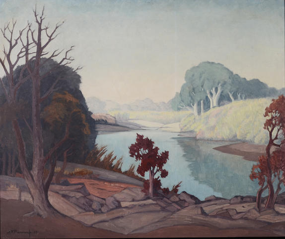 Jacob Hendrik Pierneef (South African, 1886-1957) A Transvaal river