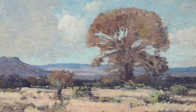 Jacob Hendrik Pierneef (South African, 1886-1957) Trees on the Veld