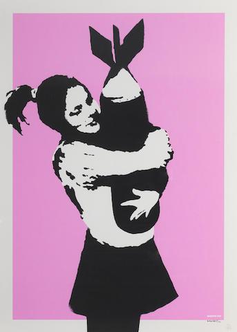 Banksy (b. 1975) Bomb Love