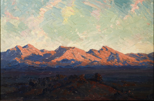 Jacob Hendrik Pierneef (South African, 1886-1957) Okahandja berge