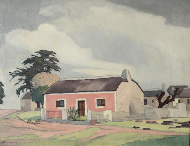 Jacob Hendrik Pierneef (South African, 1886-1957) 'Elim, KP, Naby Bredasdorp'
