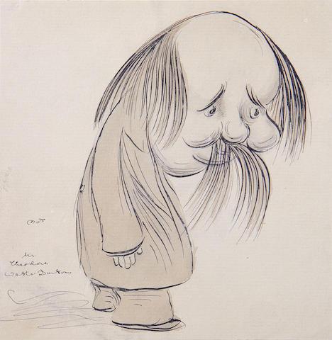 Max Beerbohm (British, 1872-1956) Mr Theodore Watts-Dunton