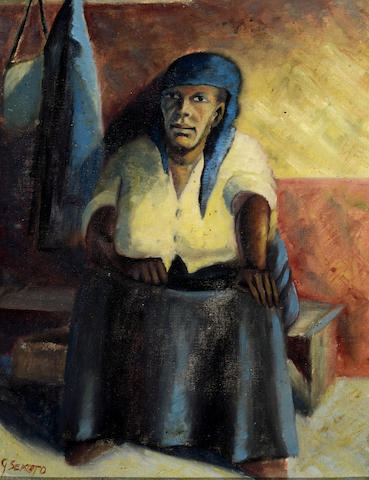 Gerard Sekoto (South African, 1913-1993) Portrait of the Artist's Mother