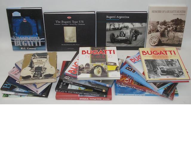 A lot of Bugatti related books,