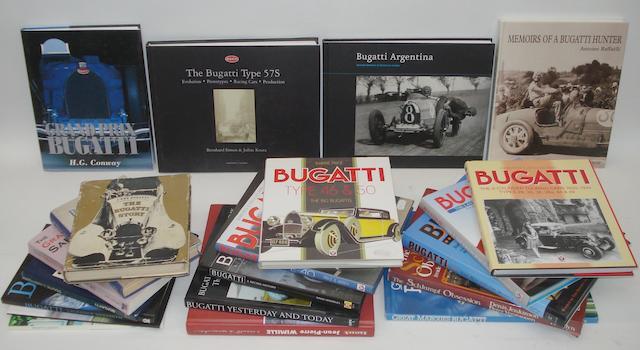 A lot of Bugatti related books,