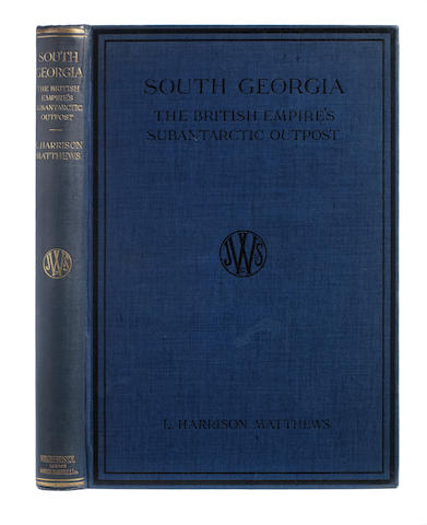 MATTHEWS (LEONARD HARRISON) South Georgia: The British Subantarctic Outpost, FIRST EDITION, John Wright, 1931