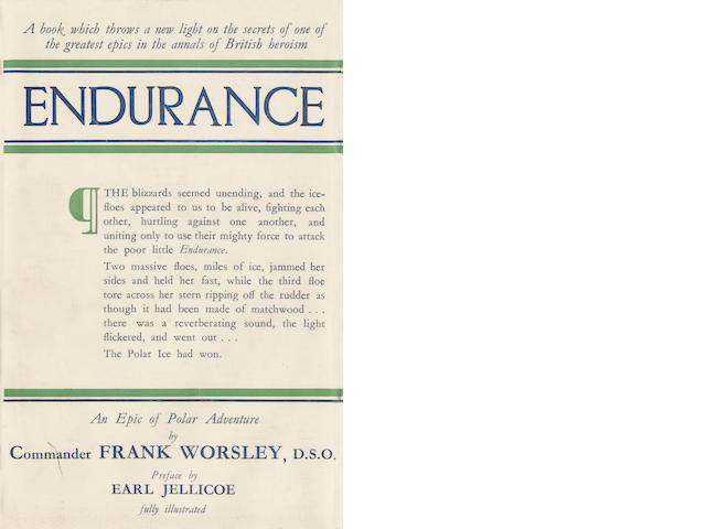 WORSLEY (FRANK A.) Endurance. An Epic Polar Adventure, FIRST EDITION, Philip Allan, 1931