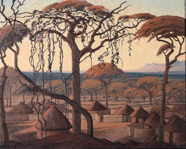 Jacob Hendrik Pierneef (South African, 1886-1957) A view over Chuniespoort