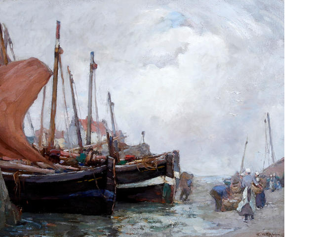 William Watt Milne (British, 1865-1949) 'Bringing in the Catch'