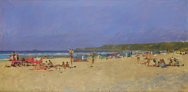 Ken Howard R.A. (British, born 1932) Sennen Cove, Cornwall