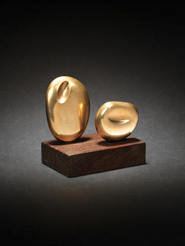 Dame Barbara Hepworth (British, 1903-1975) Two Forms (Atlantic) 8.5 cm. (3 1/3 in.) high (not including base)