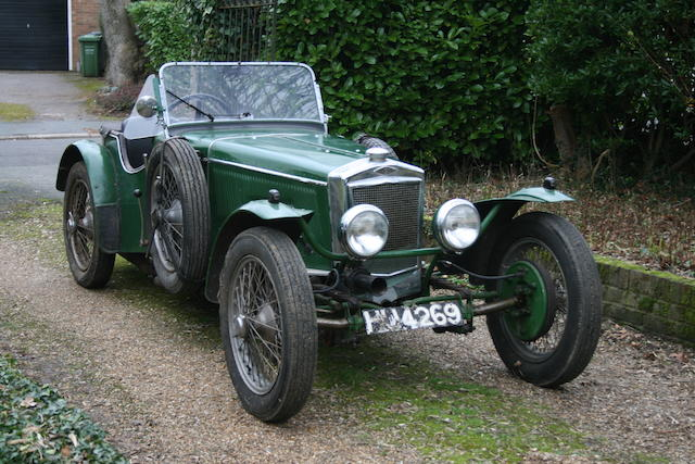 From the estate of the late E.A. Stafford East,c.1929 Frazer Nash AC-engined Sports Two-seater   Engine no. To be advised