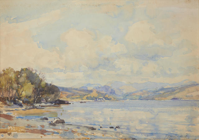 Samuel John Lamorna Birch, R.A., R.W.S., R.W.A. (British, 1869-1955) A June day at Coniston Water