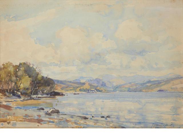 Samuel John Lamorna Birch, R.A., R.W.S., R.W.A. (British, 1869-1955) A June day at Coniston Water