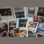 A lot of motoring event posters