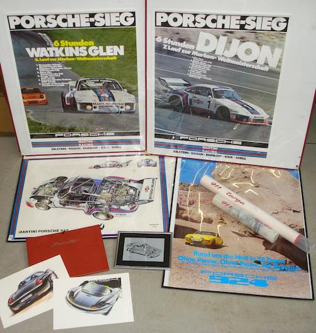A lot of Porsche posters,