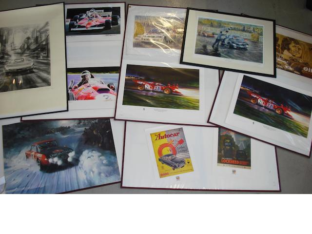 A lot of motorsport art