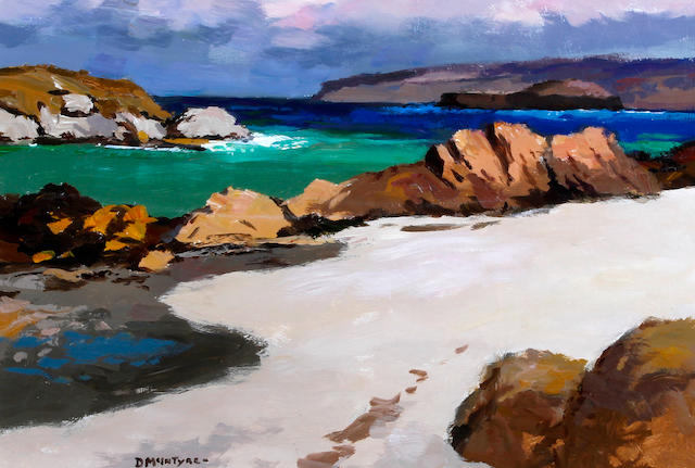 Donald McIntyre (British, 1923-2009) 'Staffa from Iona'