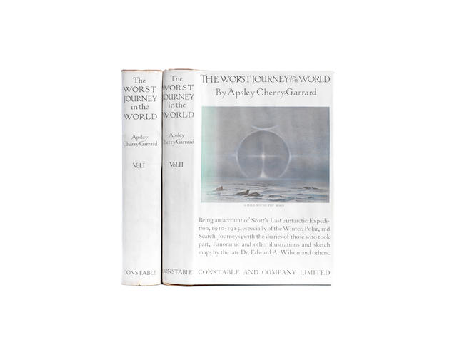 CHERRY-GERRARD (APSLEY) The Worst Journey in the World. Antarctic 1910-1913, 2 vol., FIRST EDITION, Constable & Co., 1922