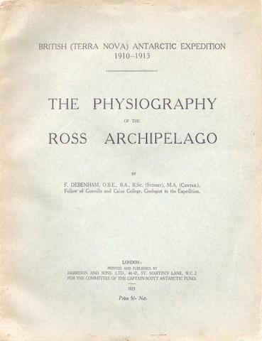 DEBENHAM (FRANK) British (Terra Nova) Antarctic Expedition 1910-1913, FIRST EDITION, Harrison & Sons, 1923