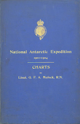 "MULOCK (GEORGE F.A.) The Charts of the ""Discovery"" Antarctic Expedition, FIRST EDITION, Royal Geographical Society, 1908"