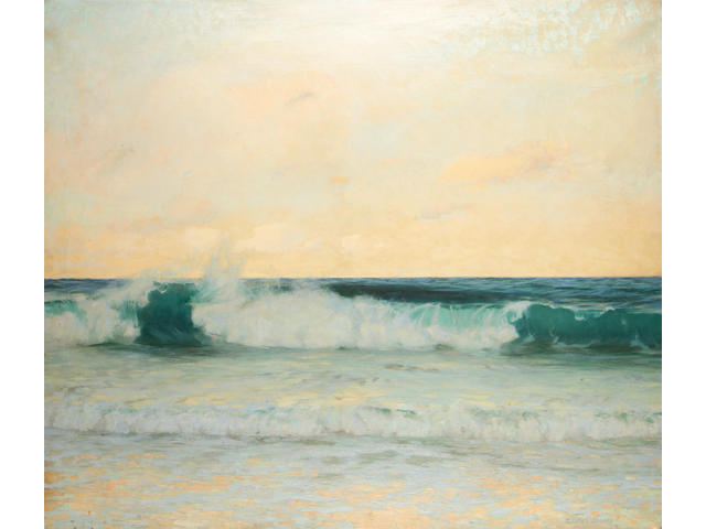 Adrian Scott Stokes (British, 1854-1935) Breaking wave