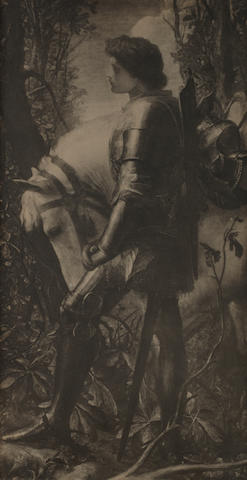 Frederick Hollyer (British, 1837-1933) Photographic facsimile of G. F. Watts's Sir Galahad of 1862, 1890s
