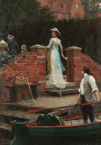 Edmund Blair Leighton, ROI (British, 1853-1922) The glance that enchants