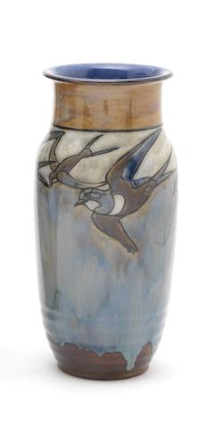 Harry Simeon for Doulton Lambeth A Vase with Birds