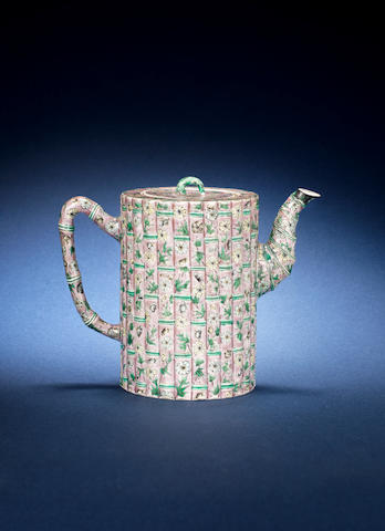 An aubergine-ground teapot and cover Kangxi [CHECK]