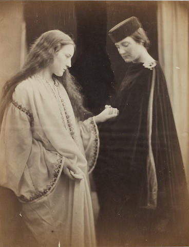 Julia Margaret Cameron (British, 1815-1879) Hatty Campbell and Sister, 1868 32.2 x 35.4cm (12 11/16 x 13 15/16in).