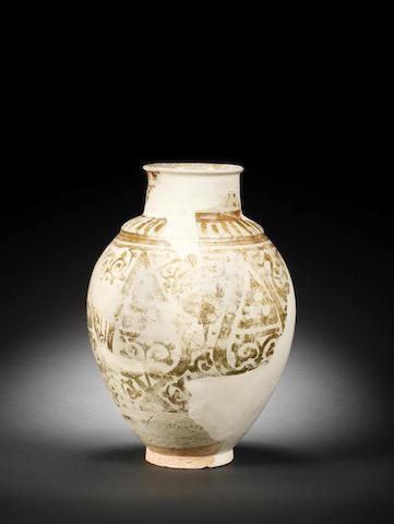 A fragmentary Fatimid lustre pottery Jar Egypt, 11th Century