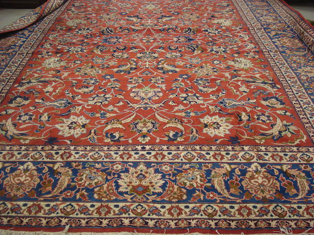 An Isfahan carpet, Central Persia, 423cm x 320cm