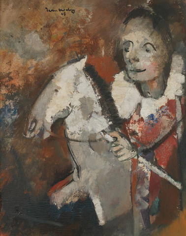 Jean Max Friedrich Welz (South African, 1900-1975) Hobby horse and rider within the original frame