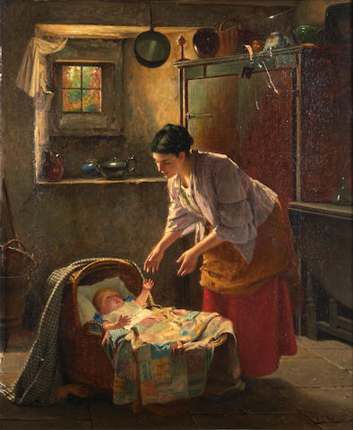 Haynes King (British, 1831-1904) Mother's pet