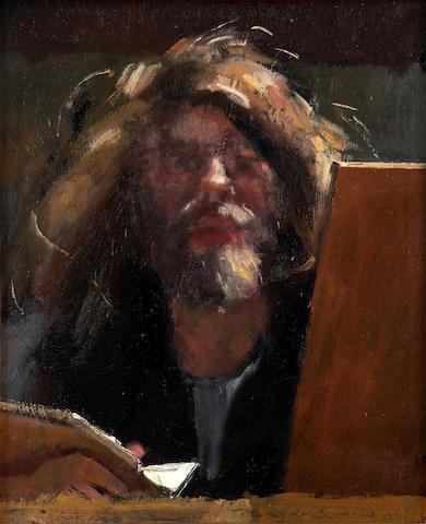 Robert O. Lenkiewicz (British, 1941-2002) Self portrait
