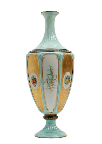 A Royal Worcester fruit painted vase  Dated 1895