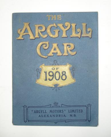 'The Argyll Car of 1908' catalogue,