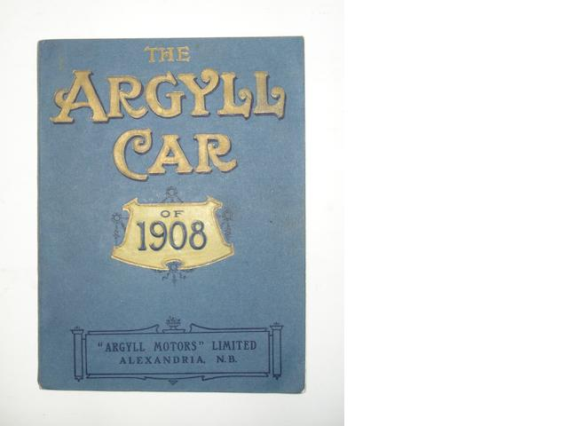 'The Argyll Car of 1908' catalogue