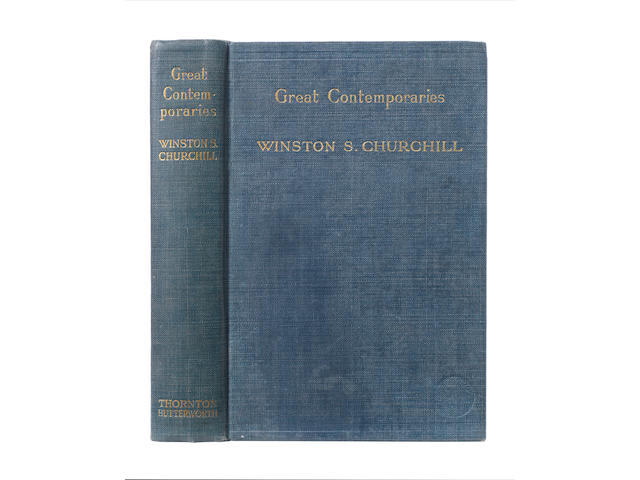CHURCHILL (WINSTON) Great Contemporaries, FIRST EDITION, AUTHOR'S PRESENTATION COPY TO NEVILLE CHAMBERLAIN, 1937