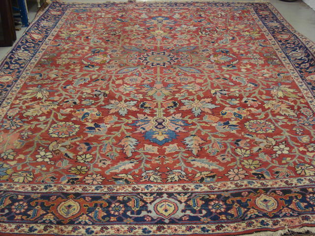 A Heriz carpet, North West Persia, 356cm x 285cm