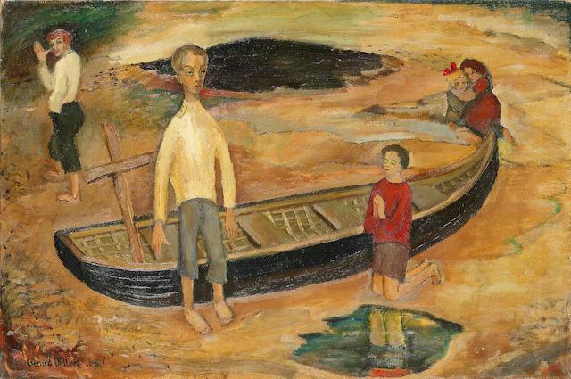 Gerard Dillon (Irish, 1916-1971) Little Boy Playing at God 51 x 76.2 cm. (20 x 30 in.)