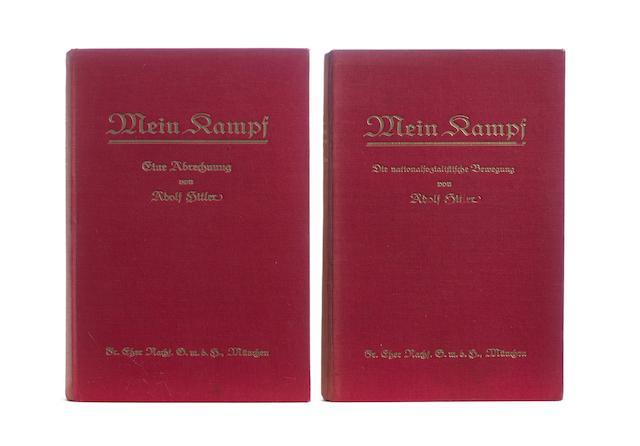 HITLER (ADOLF) Mein Kampf. Eine Abrechnung [-Die nationalsozialistische Bewegung], 2 vol.