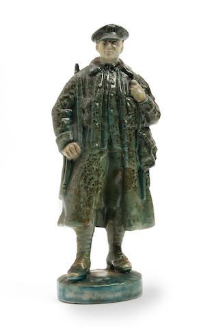 Burslem Items A Doulton Burslem Titanian Ware figure, circa 1918-1938  '