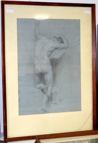 Roman School, late 18th Century Study of a kneeling man