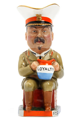 A Wilkinson Carruthers-Gould 'General Botha' Toby jug